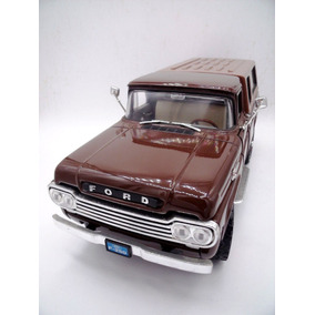 1959 Ford F250 Pick Up Con Camper Brown 1/18 Yatming