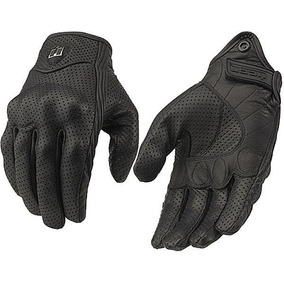 Guantes Liso Perfo Icon Pursuit Motociclista Piel Deportivo
