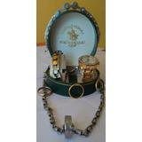 Reloj Polo Racquet Baño De Oro/pulseras De Acero Quirurgico