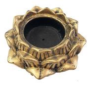 Porta Incensário Flor De Lotus Em Resina Dourado