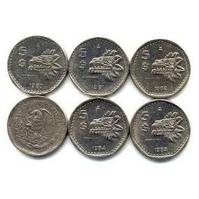 5 Pesos Quetzalcóatl **remate De Monedas Antiguas*