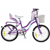 Bicicleta Nena Rodado 14 Princesa Stars Con Canasto Happybuy