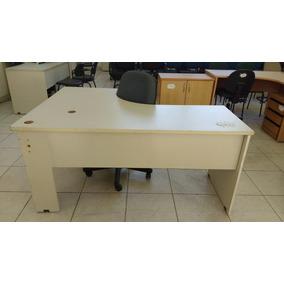 Mesa Para Escritório Branca Em L