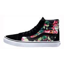 Zapatillas Botitas Vans Sk8-hi Floral Print Importadas -oca