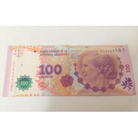 Cédula Argentina Evita Péron 100 Pesos