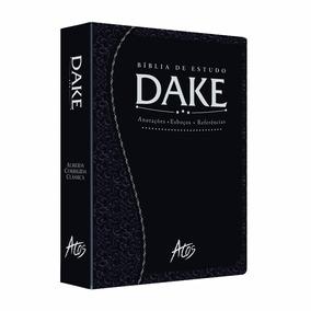 Bíblia De Estudo Dake Preta Trabalhada Grande Editora Atos