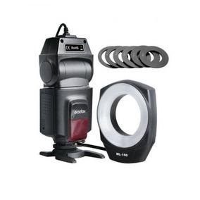 Macro Ring Flash Ml-150 Godox Para Nikon Y Canon