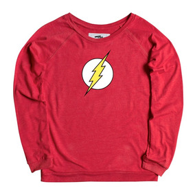 Flash Logo Pullover Mujer Mascara De Latex Dc Comics