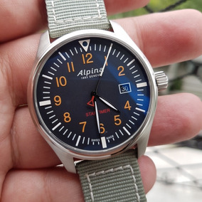 a11d4dbb774 Relógio Alpina Startimer Pilot Novo Completo Pronta Entrega. R  1.999