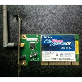 Tarjeta D-link Airplus Xtremeg Dwl-g520 Poco Uso