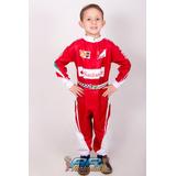 Fantasia Infantil Macacão Ferrari F1 Luxo Com Nome Grátis