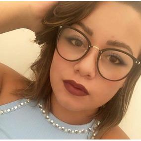 Oculos Feminino Grau Terracota - Óculos Preto no Mercado Livre Brasil f0ee46ba0d