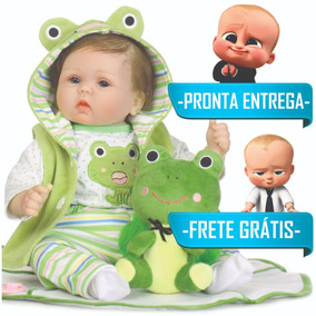 Bebê Reborn Menino Sapinho De Brindes Pronta Entrega