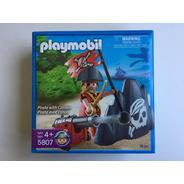 Playmobil 5807 Pirata Com Canhão Pirates Geobra