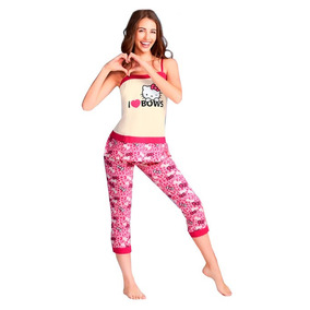 Linda Pijama Hello Kitty, Pantalón, Blusa Tirantes