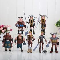 Como Treinar O Seu Dragão 8 Bonecos Vikings Figuras De Ação