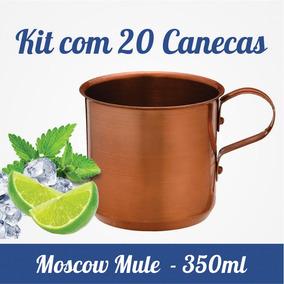 Kit C/ 20 Canecas Moscow Mule - Alumínio Pintado