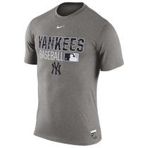 Remera New York Yankees Nike Baseball Talle Xl Gris Mlb