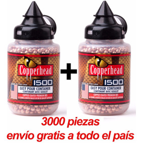3000 Balines Copperhead Crosman 4.5 Posta Munición Rifle