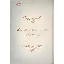 Original Acta Constitutiva De La Federación Año De 1824