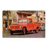 Cartao Postal Promocional Pickup Jeep F-75 Willys Anos 60