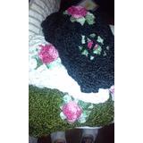 Bufandas Tejidas Media Estacion Con Flor Al Crochet