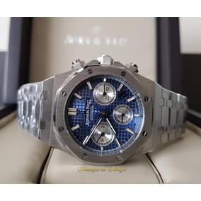 Relógio Máq. Eta Modelo Ap Roo Dial Azul Bracelete 41mm
