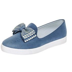 Zapato Casual Para Dama Clasben Azul 75788 100% Originales
