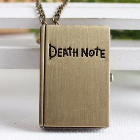 Colar C/ Relógio Caderno Shinigami Death Note Pronta Entrega