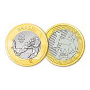 Moeda 1 Real Comemorativa Olimpíadas Rio 2016 - Rugby