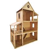 Casa Boneca Barbie Desmontada 129x88x42,5 Mdf Madeira