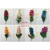 Kit 6 Flores Artificiais Buque Orquidea Pronto Entregam-qx