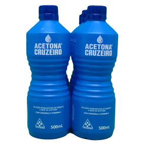 Acetona Cruzeiro 500ml 6 Unidades