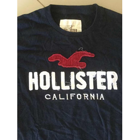 Camiseta Hollister De Nyc 100% Algodão Peruano Azul Marinho d58e67ed5fba2