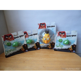 Lote 4 Juguetes Figuras Angry Birds Spin Master Chuck Pr56
