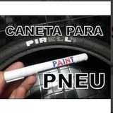 Caneta Tinta Branca Pinta Pneus Carro Moto Pneu