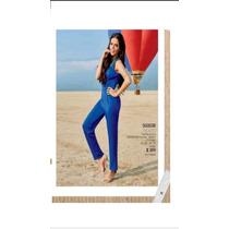 Oferta Jumpsuit Mono Palaxo Azul Elegante Moda Nacional