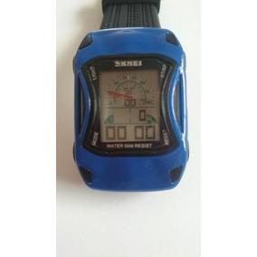 Relógio Infantil Formato Carro Marca Skmei