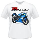 Camiseta Moto Suzuki Gsx R 750 Srad Moto Gp Gsxr Camisa