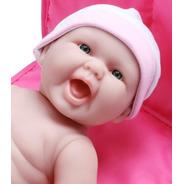 Muñeca De Bebé Recién Nacido Realista 33 Cm Vinilo Lavable