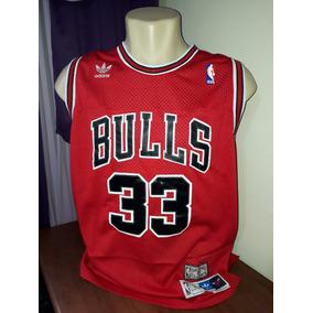 e47b4254b Camisa Basquete Chicago Bulls Pippen Promoção R  95