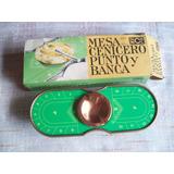 Mesa Cenicero Punto Y Banca . Dinicol . Producto Vintage