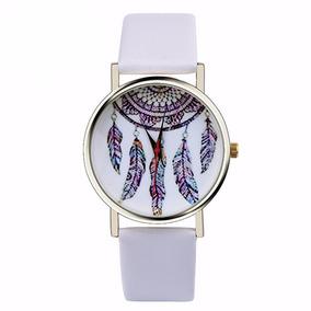 Relógio Ladies Quarzt Moda Dreamcatcher Branco