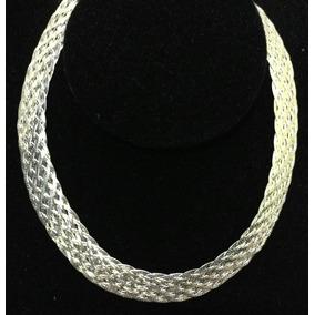 Prata 925, Colar Trancada 11 Fios 40cm