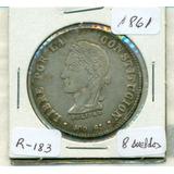 Moneda De Plata De 8 Sueldos De 1861