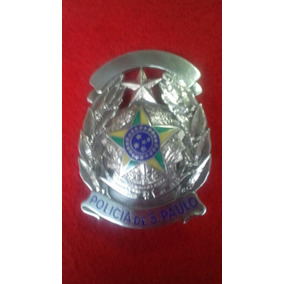 Distintivo Policia Civil De Prata Original Antigo(obsoleto)