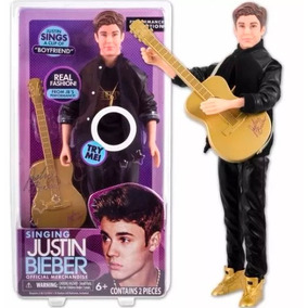 Muñeco Justin Bieber Canta Boyfriend Musica 30cm C/ Guitarra