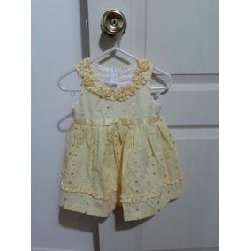 Vestido Amarillo Bordado Bonnie Baby Talla 12 Meses Nuevo