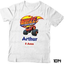 Camiseta Blaze And The Monster Infantil Heróis Personalizada