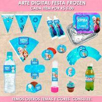 Arte Digital Personalizada Festa Frozen (para Imprimir)
